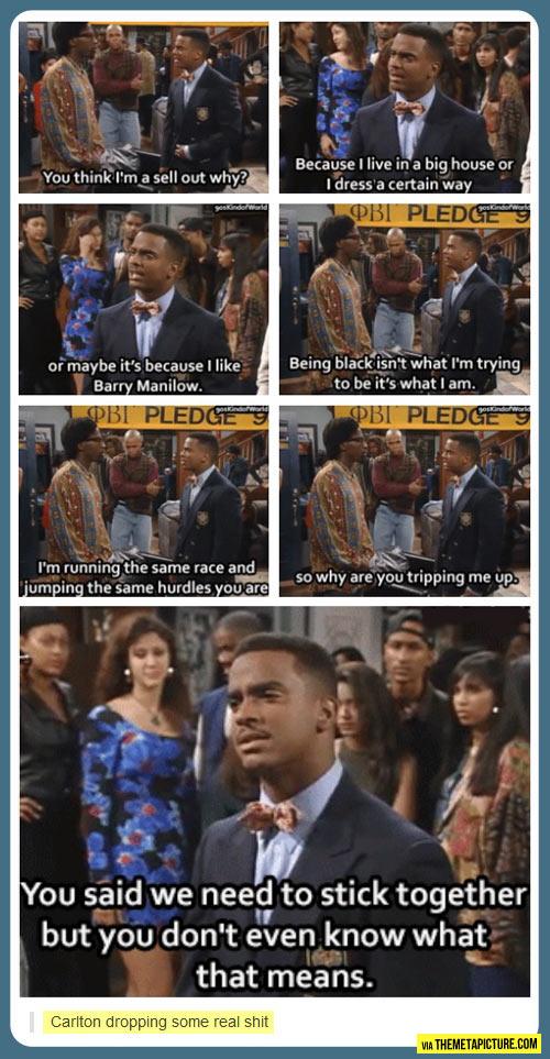 Amazing speech, Carlton…
