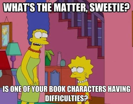 funny-Simpsons-Lisa-book-characters