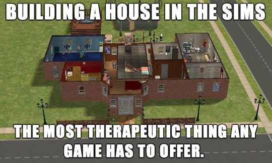 funny-Sims-building-house-therapeutic