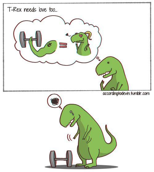 funny-T-Rex-gym-love-cartoon