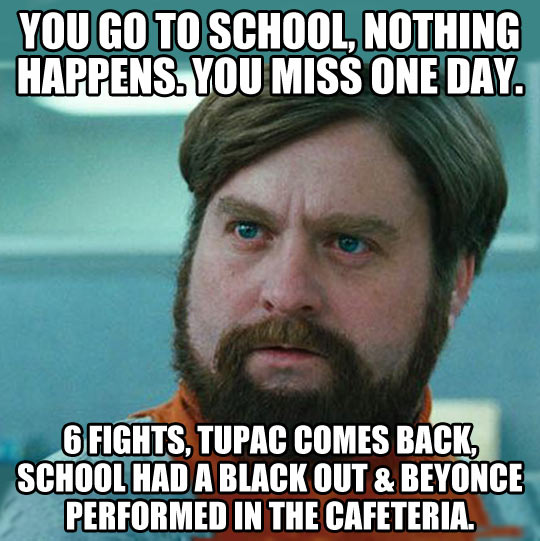 I miss school and I miss out…