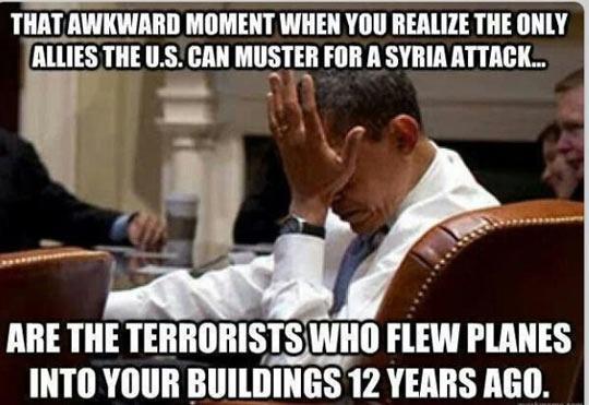 Awkward political moment…