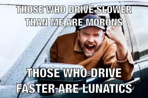 Road rage in a nutshell…