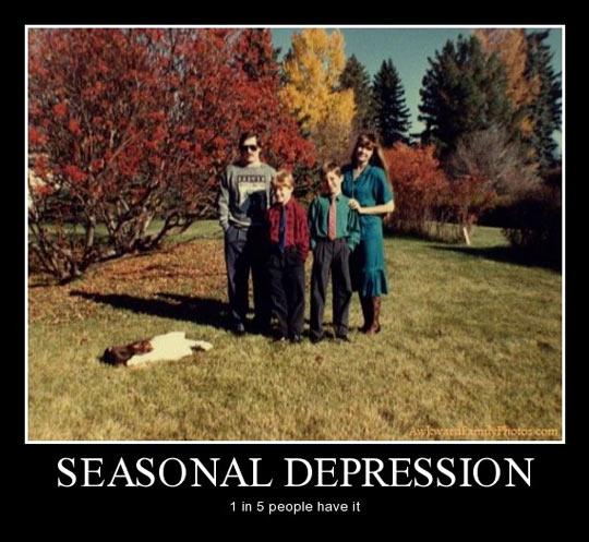 Seasonal depression…