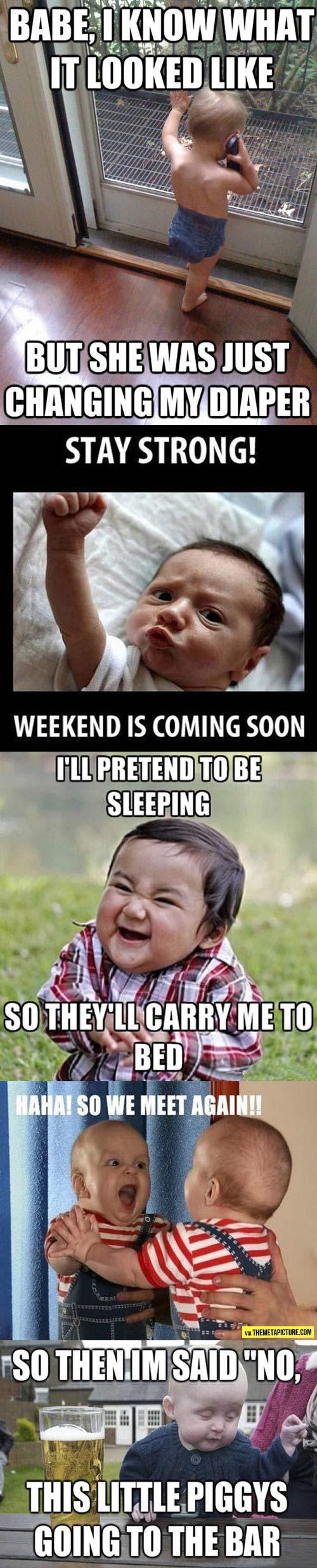 Cute baby memes