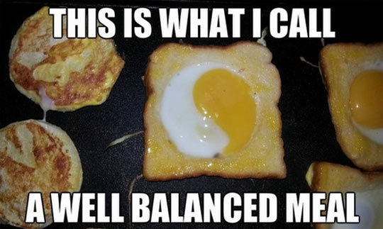 A well balanced meal…