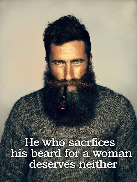 Beard sacrifice…