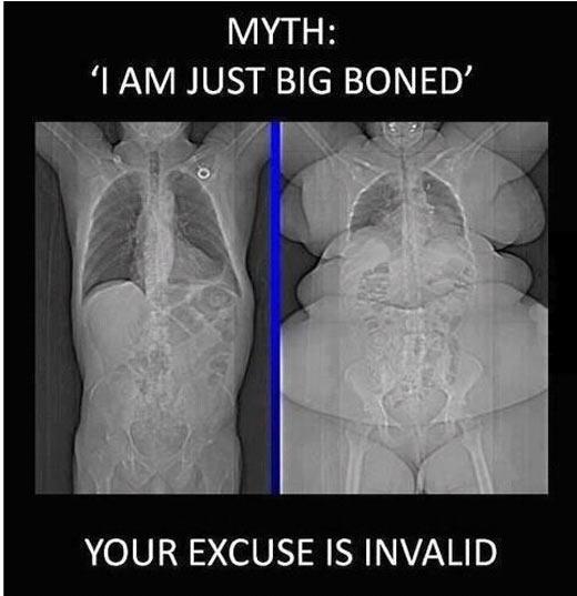 I'm just big boned…
