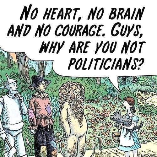 Wizard of Oz politics…