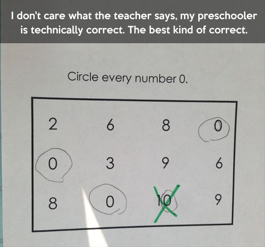 I don't care what the teacher says…