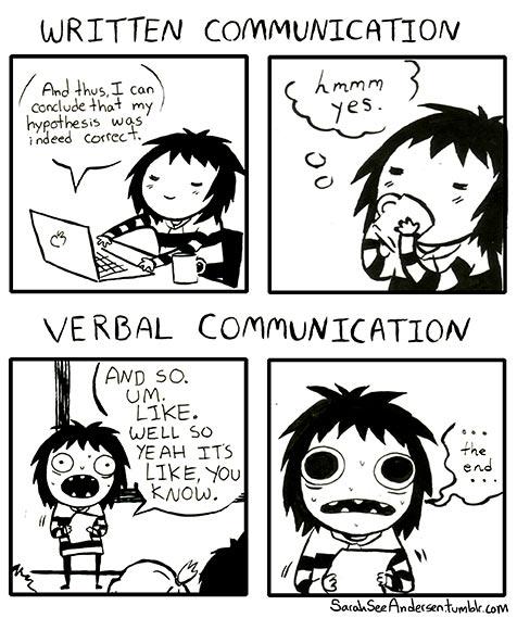 Written vs. Verbal…