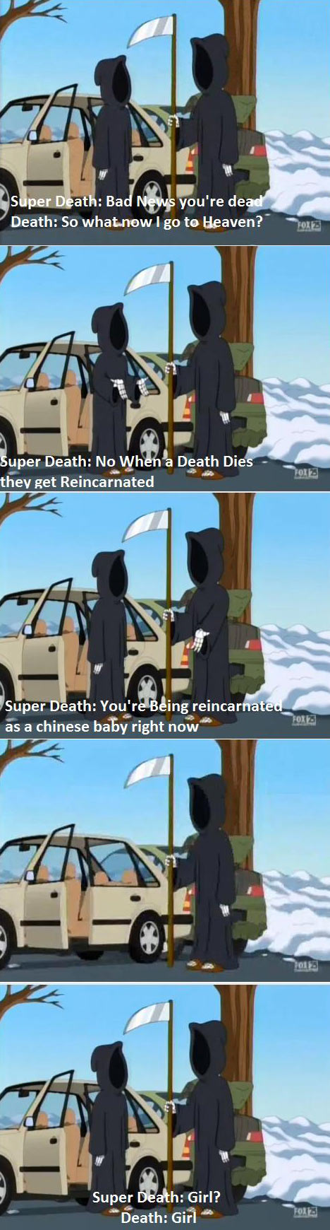 What happens when Death dies…