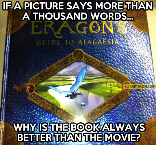 Books vs. movies…