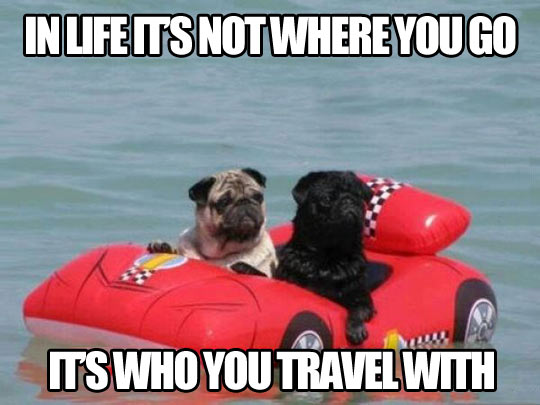It's not where you go…