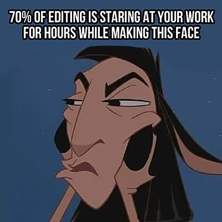 What editing is all about…