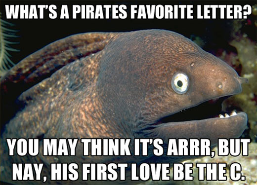 A pirates' favorite letter…