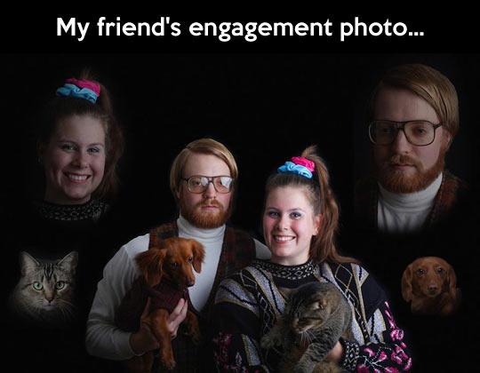 Epic engagement photo…
