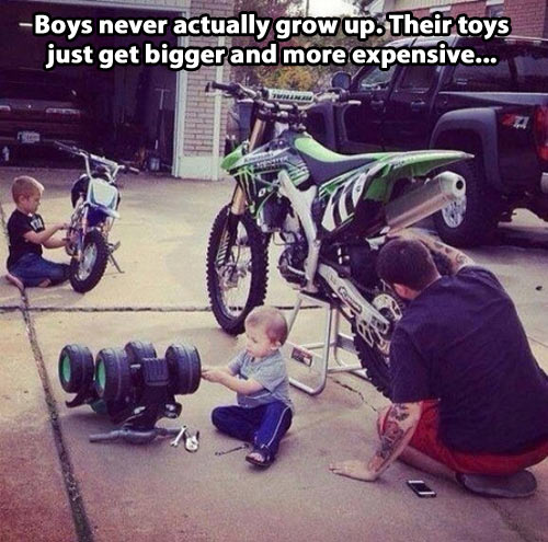funny-family-boys-toy-motorcycle