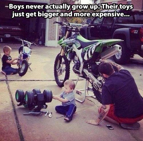 Boys don't grow up…
