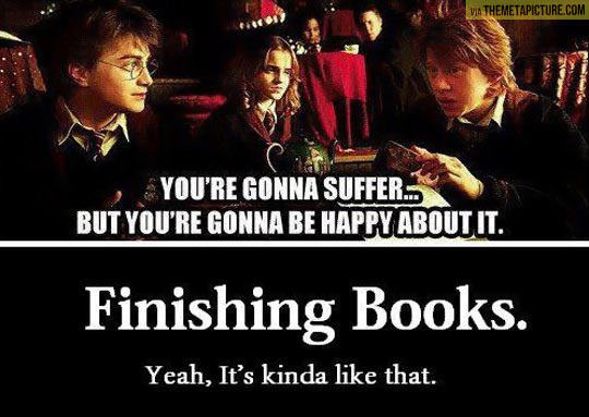 The truth about finishing books…