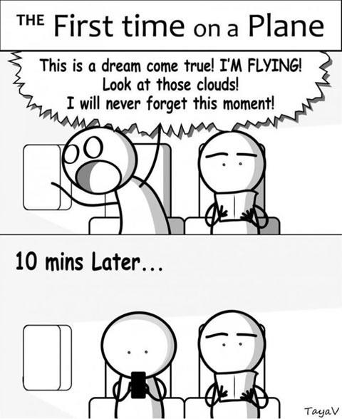 First flight trip…