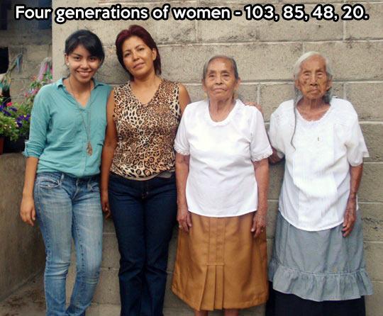 Four generations of women…