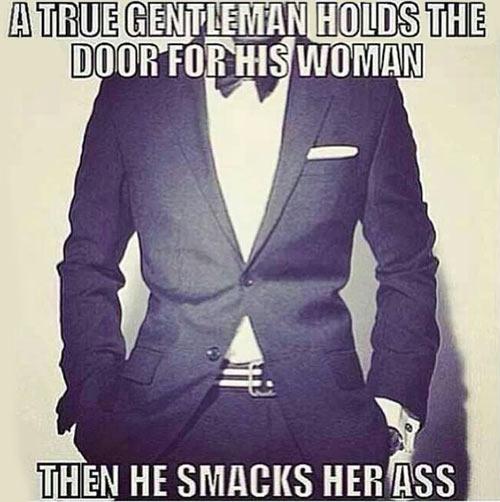 The true gentleman code…