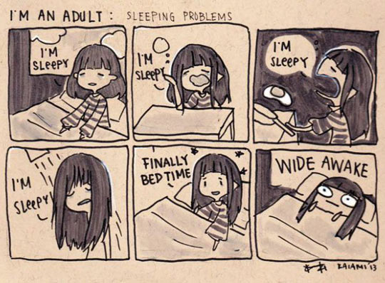 Daily sleeping problems…