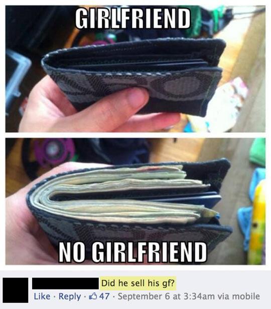 Girlfriend vs. no girlfriend…