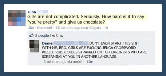 Girls are not that complicated…