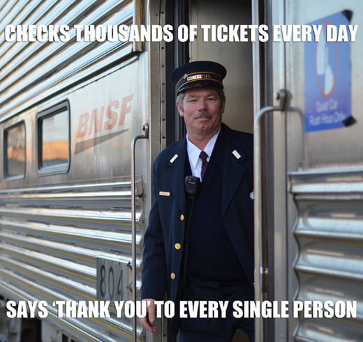 Good guy train conductor, the little things really do matter…