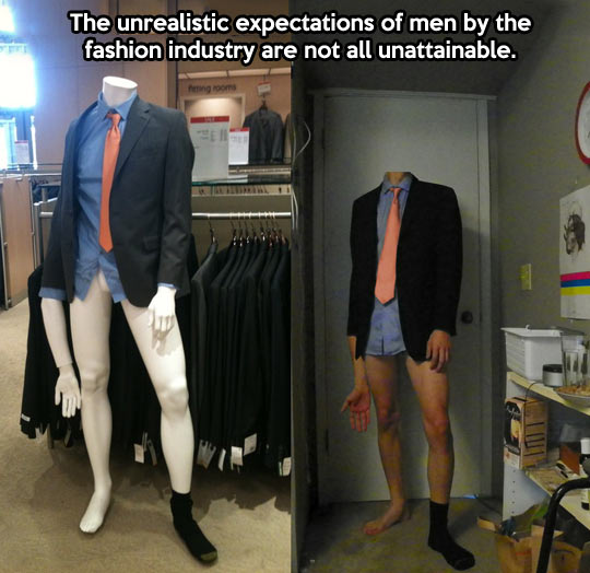 The unrealistic expectations of men…