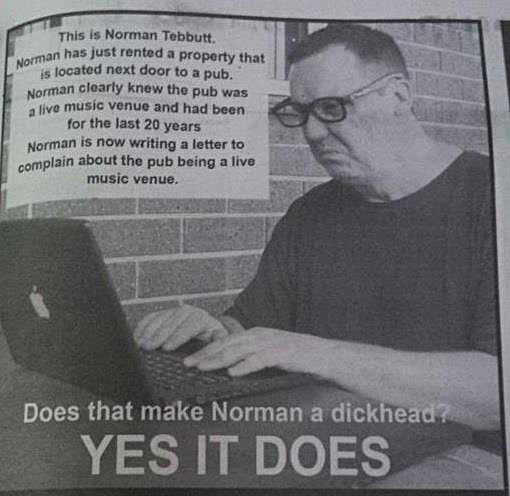 Oh, Norman…