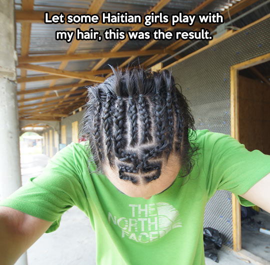 Intricate hair patterns…