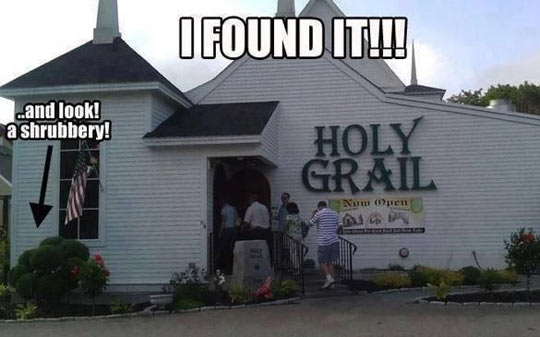 funny-house-Holy-Grail-shrubbery