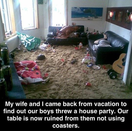 Always use coasters…