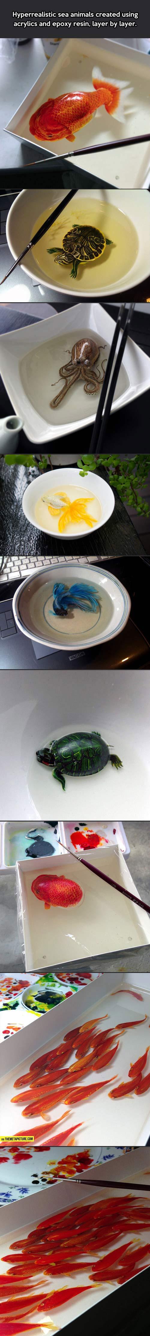 Hyperrealistic sea animals…