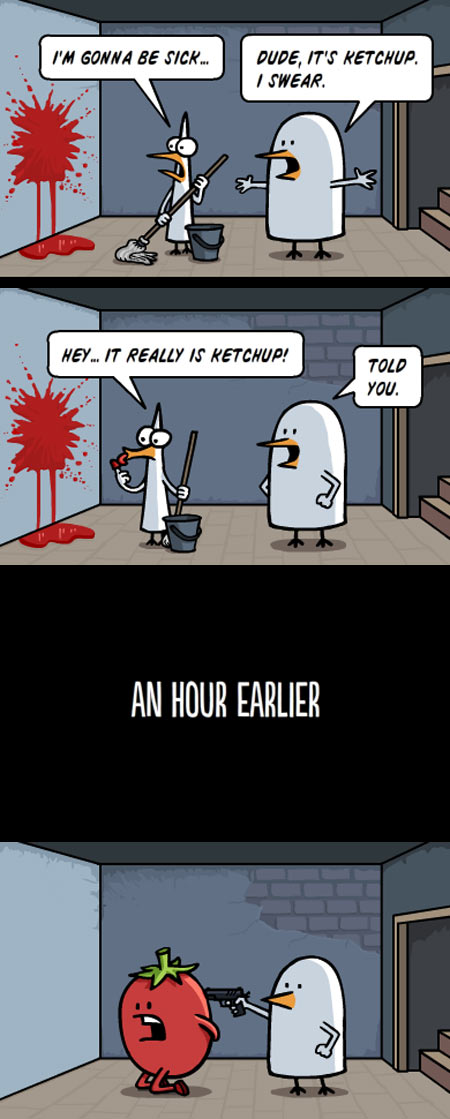 funny-ketchup-sick-cleaning-blood