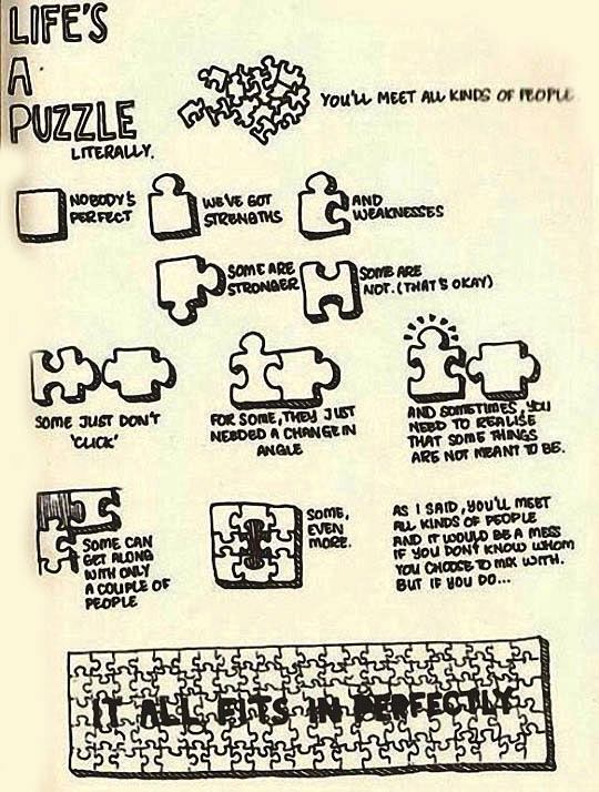 Life's a puzzle…
