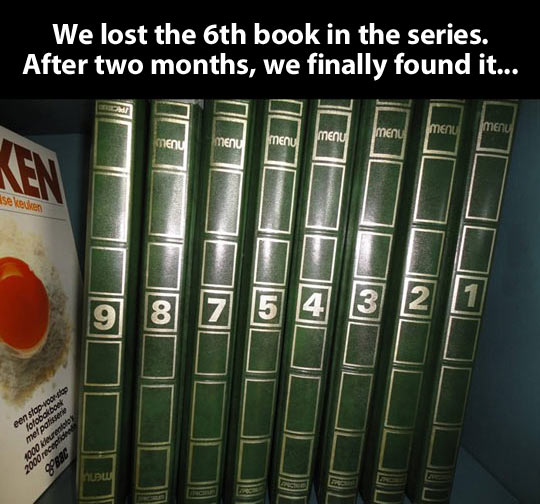 The lost book in the series…