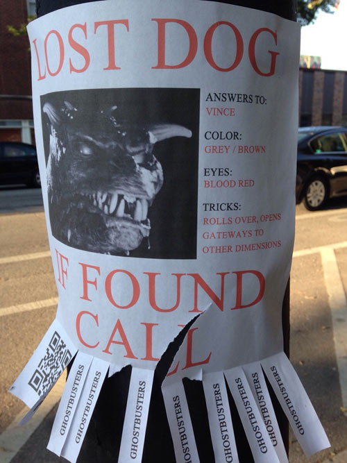 If found, call the ghostbusters…