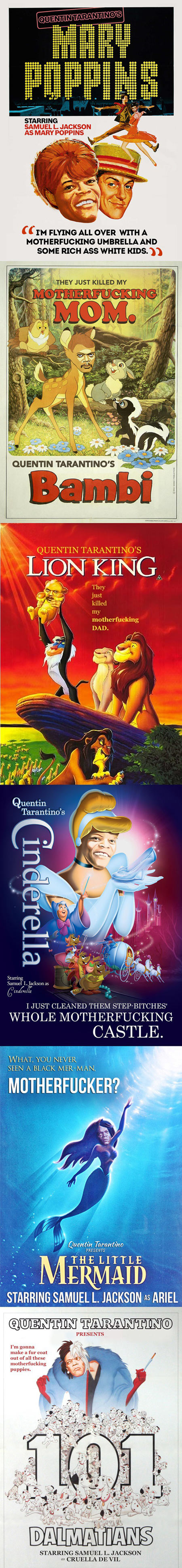 If Tarantino wrote movies for Disney…