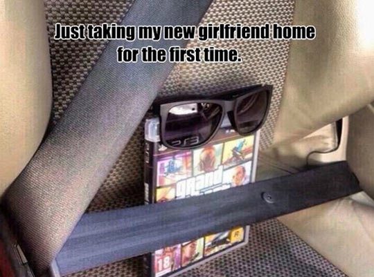 Giving my new girlfriend a ride home…