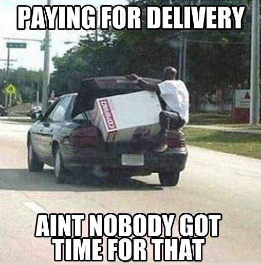 Paying for delivery?