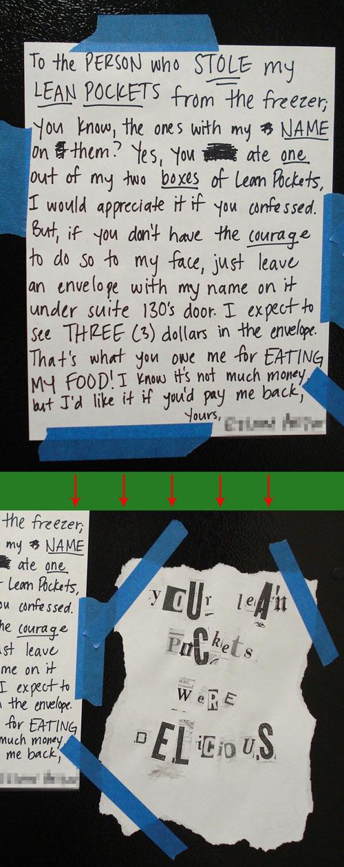 The Lean Pockets thief…