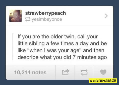 If I were a twin…
