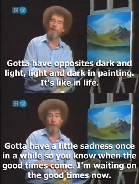 Wise words from a very talented artist…