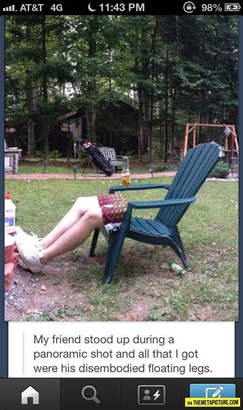 Disembodied legs…