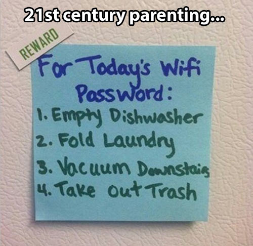 Parents in the 21st century…