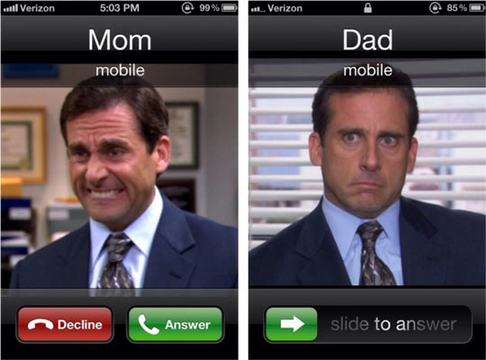 You can't decline dad's call…